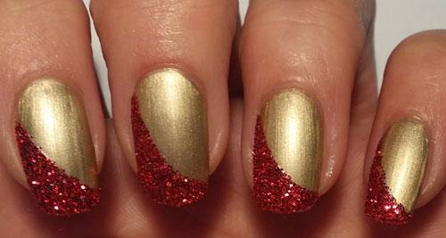 Natale-2014-Idee-nail-art-rosso-con-glitter-oro