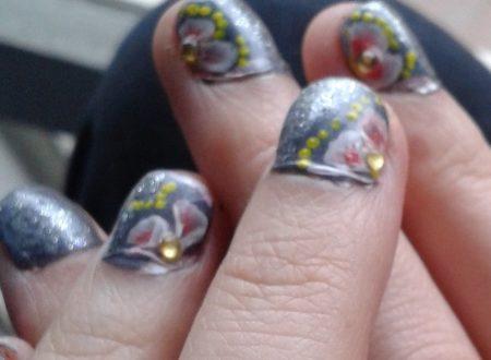 half flower nail art