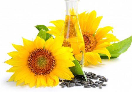 Olio di girasole per uso cosmetico