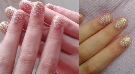 Lace elegant nail art