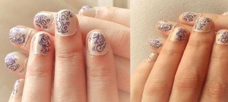 Elegant violet arabesques
