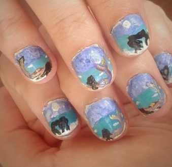 Mermaids nails art