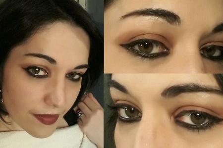 Cat eyes makeup