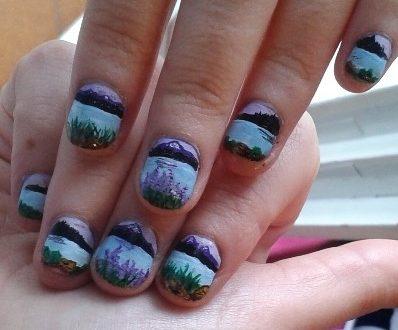 Romantic lake nails