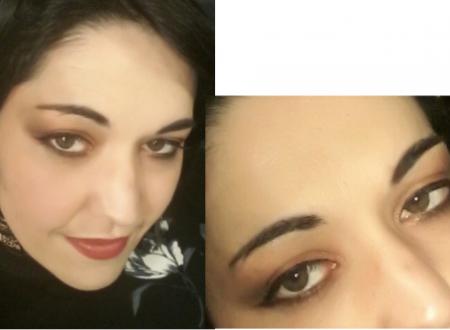 Brown shadows eyes