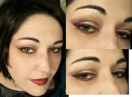 Red liner eyes