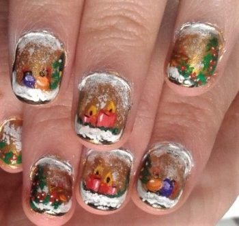 Xmas windows nails