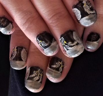 Night dreamcatcher nails