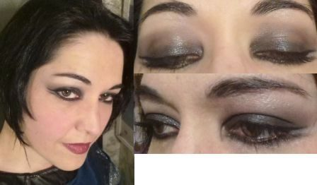 Black dark smokey eyes