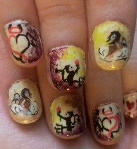 Angel devil love nails
