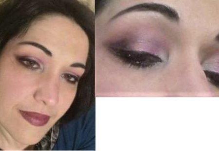 Purple elegant eyes