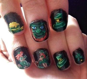 Saint Patrick's nails
