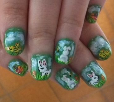 Easter funny nails
