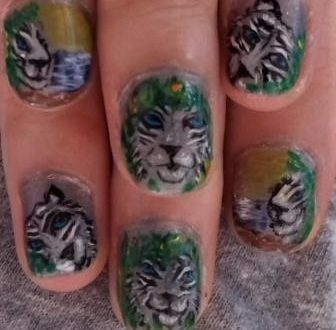 White tiger nails