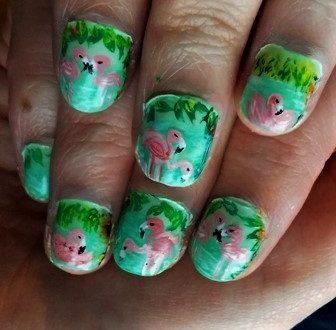 Flamingo nails-fenicotteri