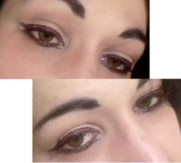 Graphic eyes makeup