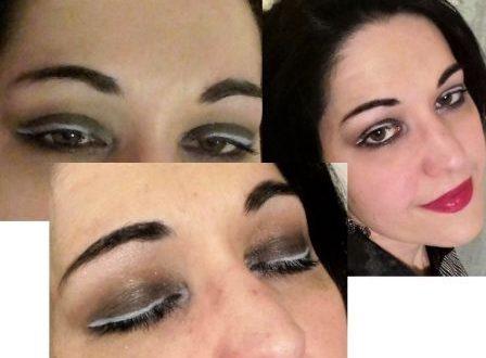 White liner makeup