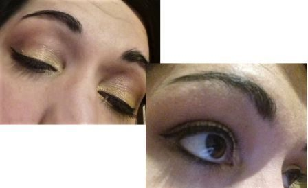 Yellow and brown eyeshadows