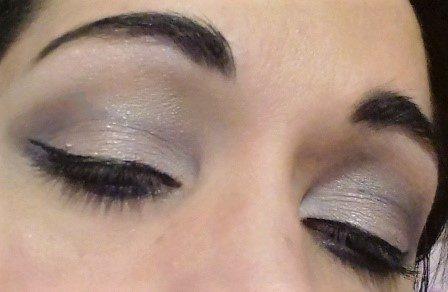 Blue silver makeup