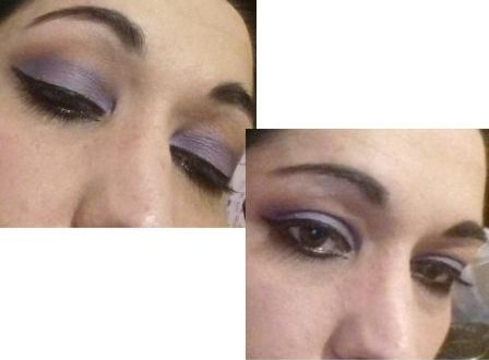 Purple night makeup