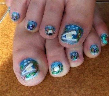 Toe shell nails