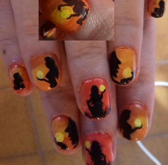 Women on sunset nails