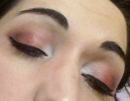 Deep dark red makeup