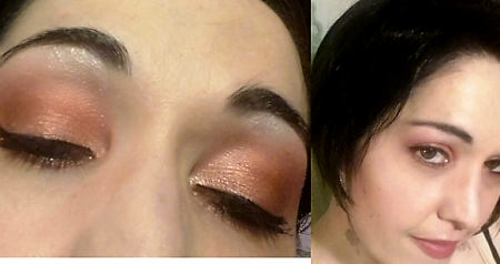Bronze summer night makeup