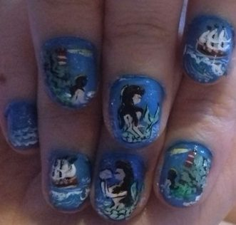 Mermaids call nails