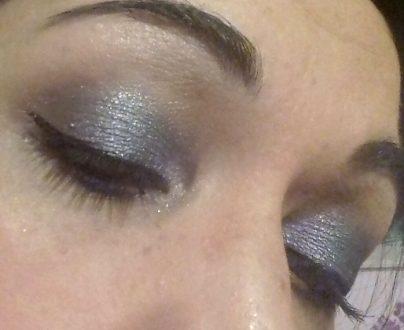 Shimmer night makeup