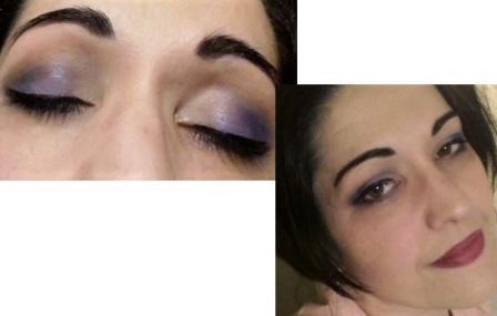 Violet blue makeup