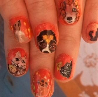 Funny cats and dogs nails