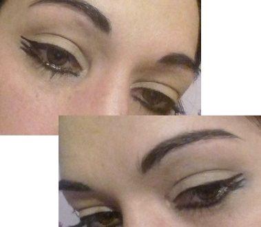 Graphic wings eyeliner makeup