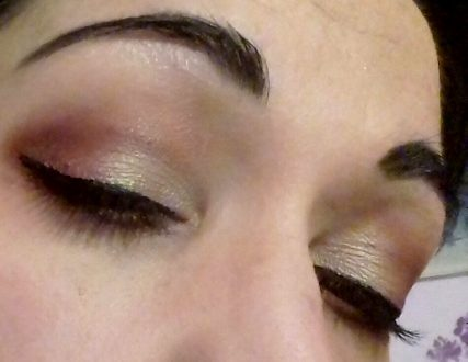 Red&gold night makeup