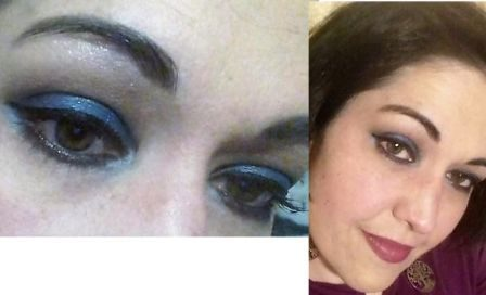 Extra blue makeup