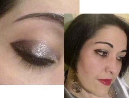Silver glam makeup