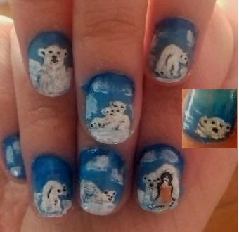Polar bears nails