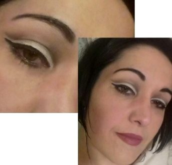 Black and white cut crease