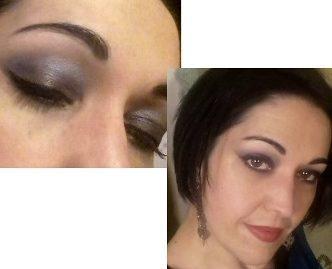 Blue night makeup