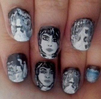 Snow queen nails