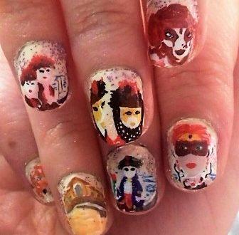 Venice carnival nails