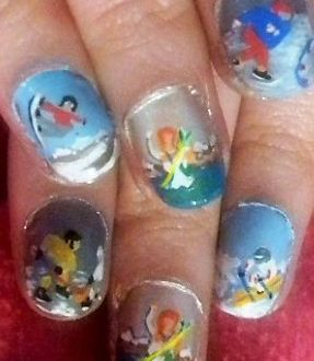 Winter olympic nails