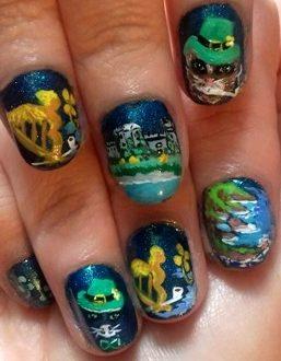 St.Patrick's day nails