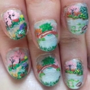 Japanese garden nails