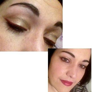 Red eyeliner makeup