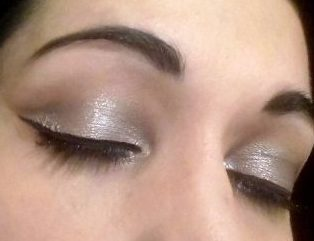 Black and silver makeup