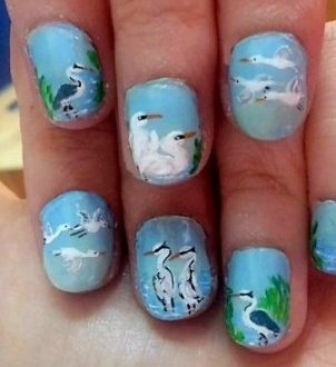 Heron-airone nails