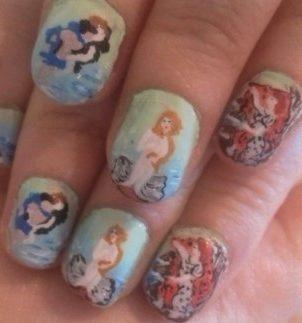 Botticelli's Venus nails