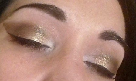 Brown and unicorn  makeup