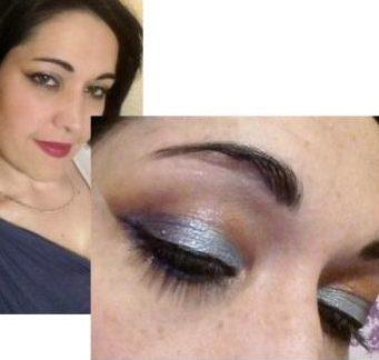 Holo summer makeup